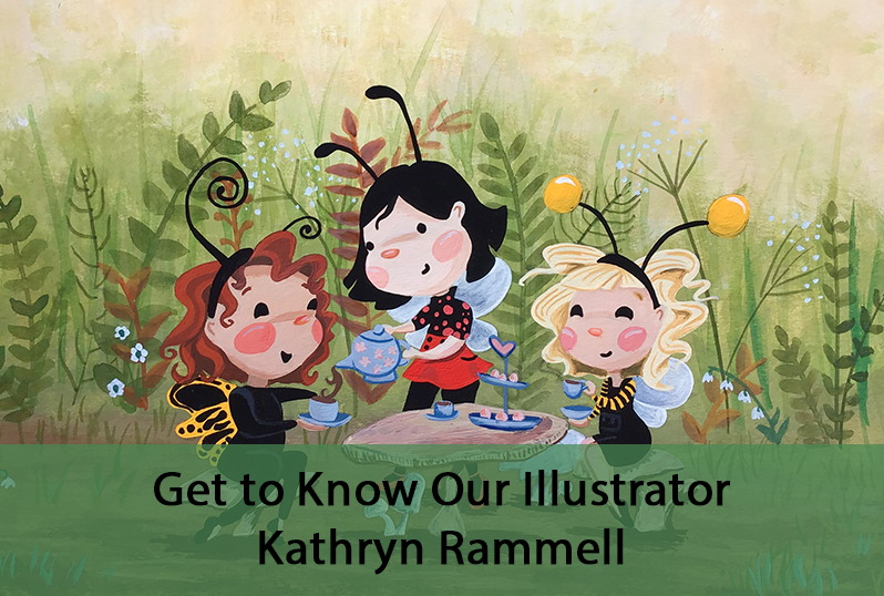 """How long have you been a member of SCBWI? What's the most impactful thing you have learned from being in SCBWI? I first joined SCBWI in 2016 but it wasn't until this last year that I really jumped in. I have loved being able to participate with webinars and online critique groups. I've also enjoyed all the illustration prompts with both SCBWI Draw This! and #SCBWIsocalillustratethis.  What medium(s) do you use to illustrate? I illustrate using primarily acryl gouache and some digital. A little bit of pencil and watercolor also tend to make appearances in my artwork, but less frequently.  What is your illustration process? It always starts with an idea that feels like it's going to burst out of me and I have to rush to a piece of paper so I can sketch it out before the idea runs away. After I sketch, and sketch, and sketch some more I do a color study in Procreate. Once I'm happy with the study, I re-sketch the image onto watercolor paper and paint away. There's usually a kid or two crawling all over me during this process.  How long have you been illustrating? How did you first get into illustration? I started writing and illustrating stories with my sister when we were little. We'd use tooooons of computer paper to make little books. And then in high school I would spend all of math class drawing pictures and writing silly stories to pass to friends between classes. During my final year of college I took a course """"just for fun"""" on children's literature. Shortly into the course I thought to myself, """"Oh my gosh. I majored in the wrong thing."""" I didn't want just one class on children's lit. I wanted ALL the classes on children's lit! A few years after college, I decided to make picture books a bigger part of my life and signed up for SCBWI. Are you self taught or did you study illustration? In college I studied Art History, so nothing hands-on as far as illustrating but it definitely gave me an introduction into things such as color theory, composition, perspective, a"""