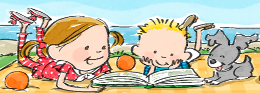 Website Art  Cropped Kids reading