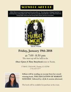 SCBWI MEET-UP WITH GUEST AUTHOR LILLIAM RIVERA